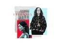 Costume designer Sammy Sheldon Differ in collage with 'Eternals' actor Gemma Chan. Differ designed t...