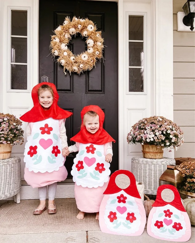 kids in russian nesting doll costumes