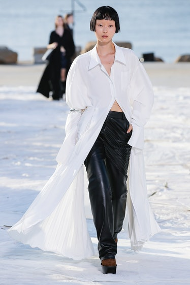 A model walks the runway for Peter Do Ready to Wear Spring / Summer 2022