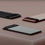 Google Pixel 6 in three colors