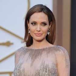 Angelina Jolie arrives at the 86th Annual Academy Awards at Hollywood & Highland Center on March 2, ...
