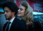 Jorge Lengeborg Jr. as Benny and Lucy Fry as Zoe in Netflix's 'Night Teeth'