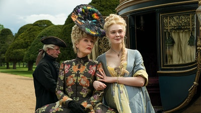 Gillian Anderson and Elle Fanning star in the Hulu series 'The Great.'