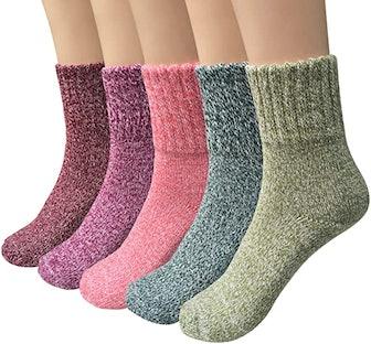 Loritta Wool Socks (5-Pack)