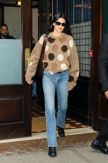 Kendall Jenner is seen in Tribeca on October 13, 2021 in New York City.