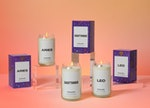 Three candles from Homesick Candles' new astrology collection.