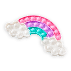 Pop Poppers Pastel Rainbow Fidget Toy
