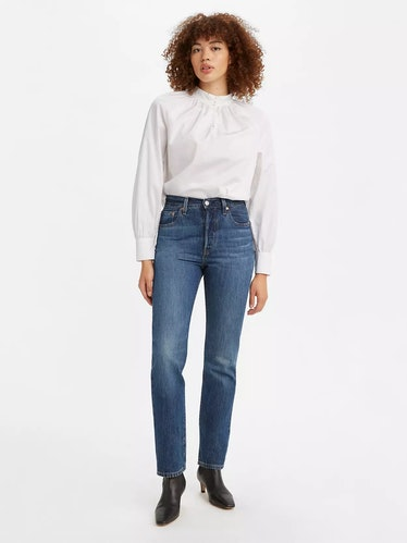 501® Original Fit Women's Jeans in Market Sixth Street Dark Wash from Levi's.