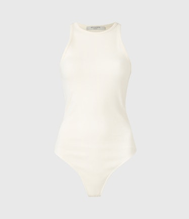 Jamie Bodysuit in Linnet White from AllSaints.
