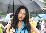 Megan Fox in an all-blue outfit before solidifying herself as an intermediate astrologer with a stri...