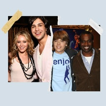 Hilary Duff, Josh Peck, and Phill Lewis (far right).