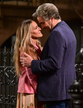"""Sarah Jessica Parker and Jon Tenney seen on the set of """"And Just Like That..."""""""