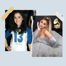 Ariana Grande in the Broadway musical '13' and at the Grammy Awards.