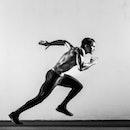 man sprinting