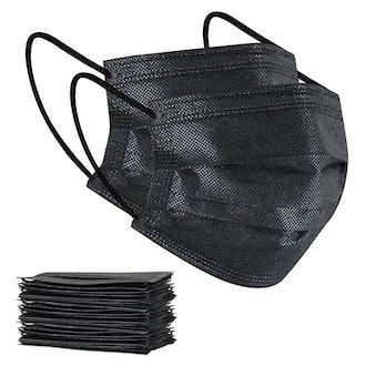 Black Disposable Face Masks (100-Pack)