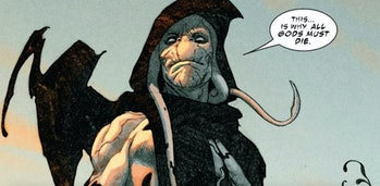 Gorr the God Butcher stating his murderous intentions in King Thor Vol. 1 #1