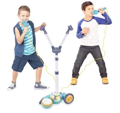 A two mic karaoke machine for kids