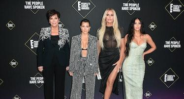 Kris Jenner, Kourtney Kardashian, Khloé Kardashian and Kim Kardashian attend the 2019 E! People's Ch...