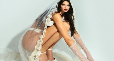 Kendall Jenner as a corpse bride.