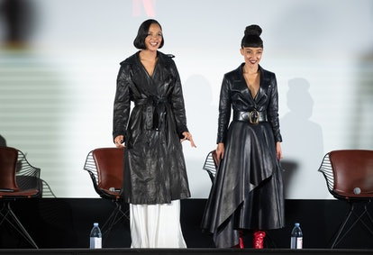 """Tessa Thompson and Ruth Negga attend In Creative Company's """"Passing"""" screening at Paris Theater on O..."""