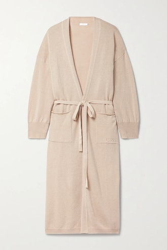 Boy belted wool and cashmere-blend robe from Eres in Sand, available to shop on Net-a-Porter.