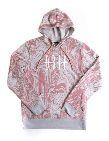 Forty wears pink printed hoodies on 'You.'