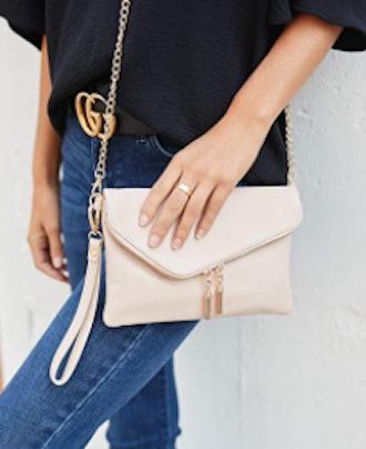 FashionPuzzle Envelope Wristlet Crossbody Bag