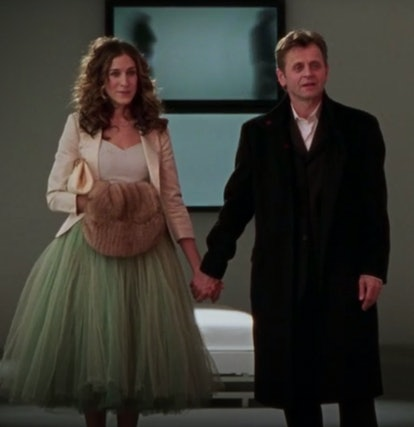 Carrie Bradshaw outfit: tulle skirt with blazer
