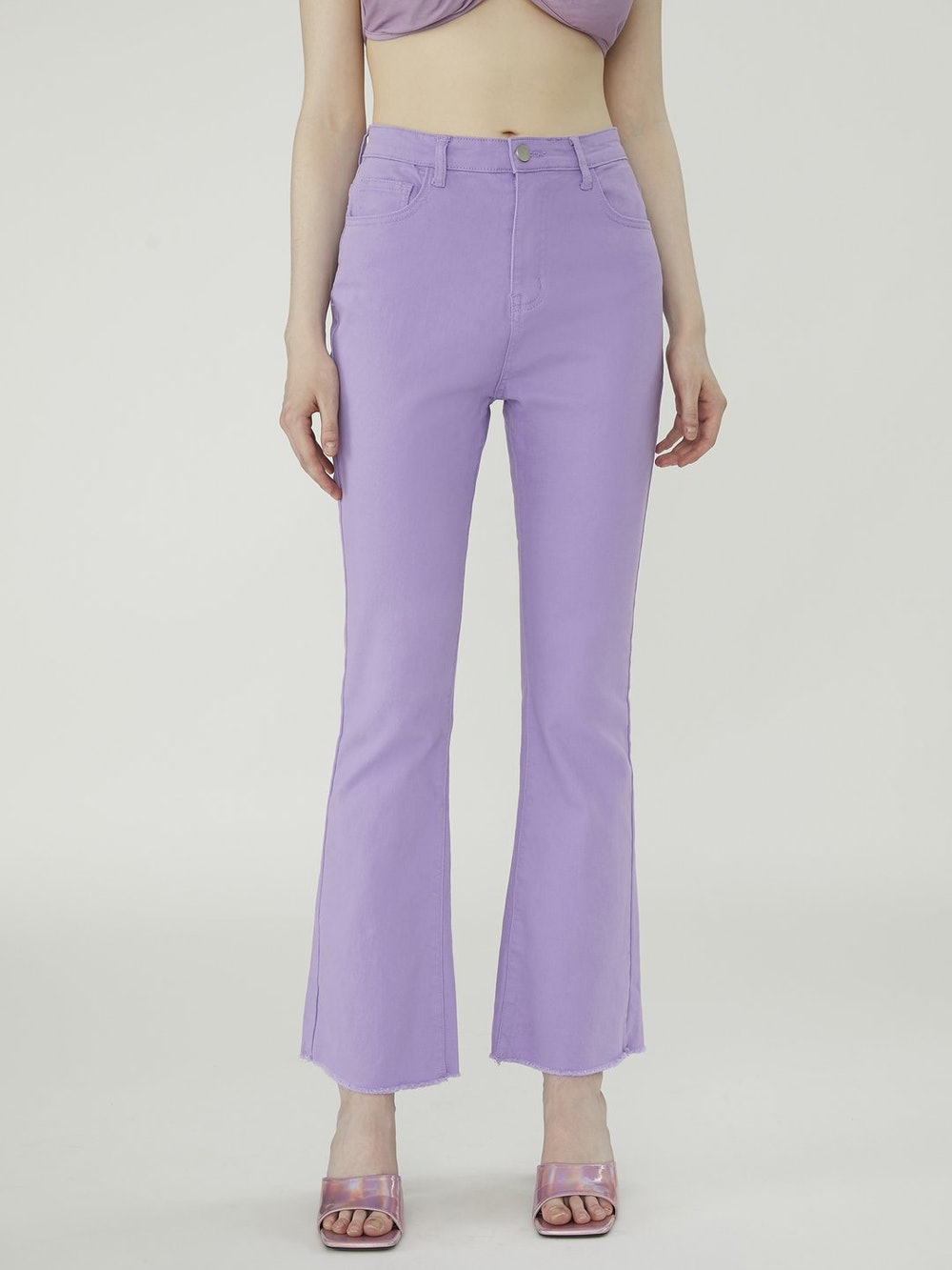 Purple Flare Jeans