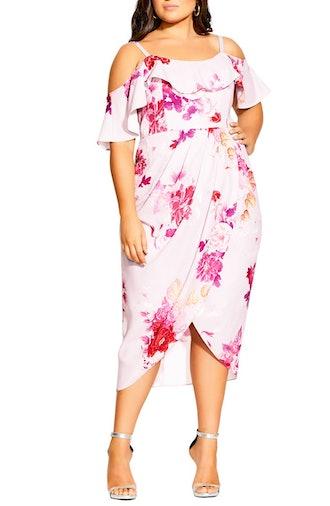 Sakura Love Cold Shoulder Dress