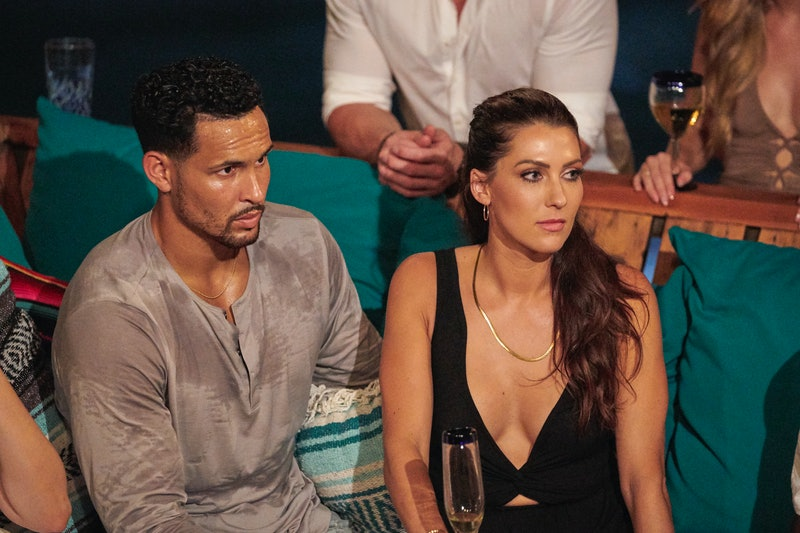 Thomas Jacobs and Becca Kufrin during the 'Bachelor In Paradise' finale.