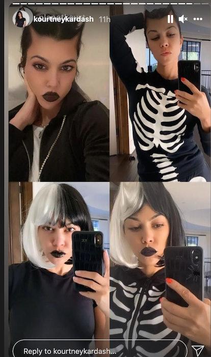 Kourtney Kardashian in black lipstick