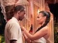 Maurissa Gunn gives Riley Christian a rose on 'Bachelor in Paradise.'