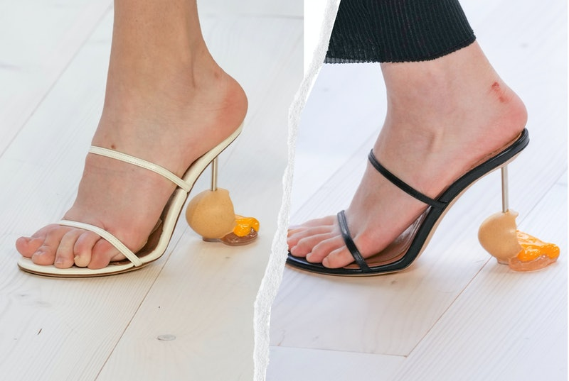 Loewe's egg shoes at Paris Fashion Week were the talk of Twitter where users had a field day. See th...