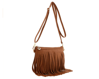 FashionPuzzle Small Fringe Crossbody Bag