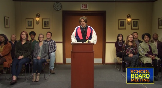 'Saturday Night Live' poked fun at the politically-charged nature of school board meetings in a skit...
