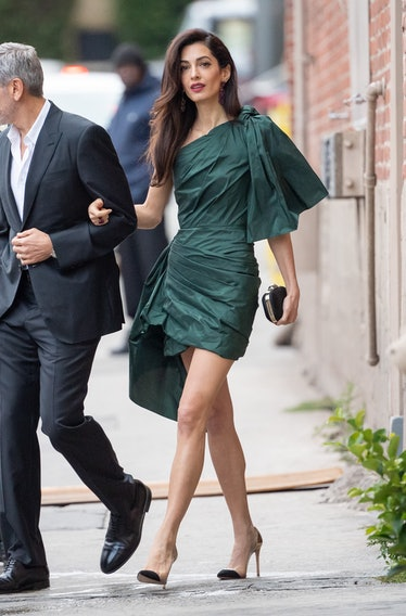 George Clooney and Amal Clooney are seen at 'Jimmy Kimmel Live' on May 07, 2019 in Los Angeles, Cali...