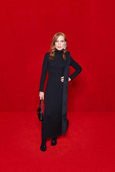 Isabelle Huppert modeling Balenciaga spring 2022