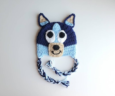 Bluey Crochet Hat