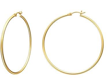 Gacimy Gold Hoop Earrings for Women