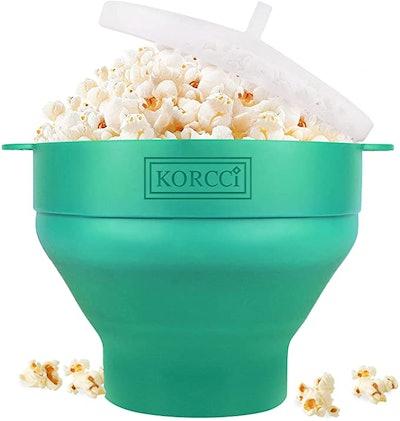 The Original Korcci Microwaveable Silicone Popcorn Popper