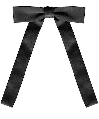 Black Satin Western String Tie