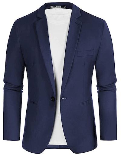 Men's Slim Fit One Button Blazers