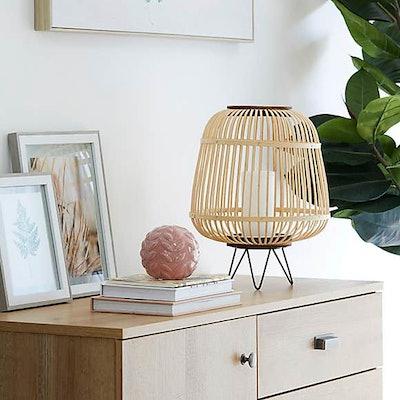 Large Bamboo Lantern With Hairpin Legs