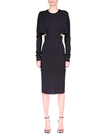 Givenchy Side-Cutout Viscose Milano Midi Dress