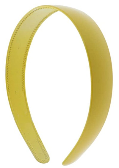 Yellow 1 Inch Plastic Hard Headband