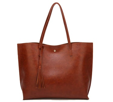 Women's Soft Faux Leather Tote