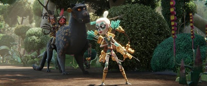 Stephanie Beatriz plays Chimi, the Skull Warrior.