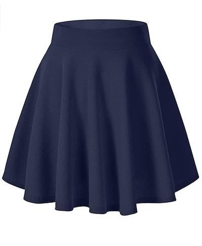 Women's Basic Versatile Stretchy Flared Casual Mini Skater Skirt