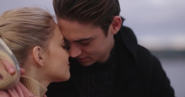 Josephine Langford as Tessa Young and Hero Fiennes-Tiffin as Hardin Scott in 'After We Fell'